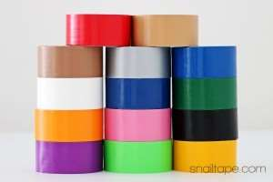 duct tape, colored cloth tape